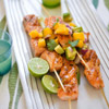Bamboo Salmon with Mango-Avocado Salsa