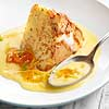 Pan-Toasted Angel Food Cake with Vanilla Custard