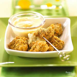 Crispy Chicken Nuggets with Honey-Mustard Dip