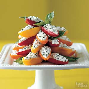 Cheese and Herb Mini Sweet Peppers