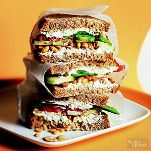 Nutty Cucumber Sandwiches