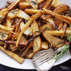 Glazed Parsnips and Pears