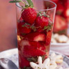 Minted Strawberries with White Wine