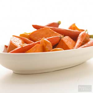 Maple-Orange Sweet Potatoes and Carrots
