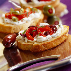 Bruschetta with Goat Cheese
