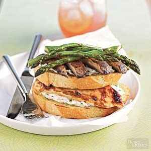 Open-Face Chicken and Mushroom Sandwiches