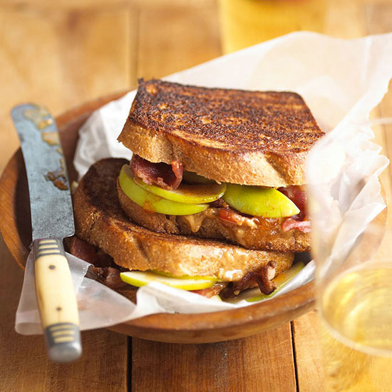 Peanut Butter and Apple-Bacon Sandwiches