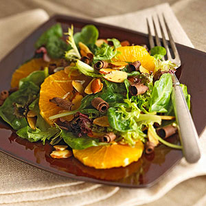 Salad with Oranges and Chocolate