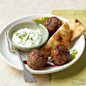 Lamb Meatballs with Pomegranate Sauce