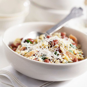 Red Beans with Orzo