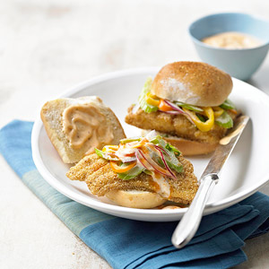 Cornmeal-Crusted Catfish Rolls