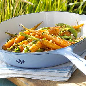 Carrots and Snap Peas with Citrus Gremolata