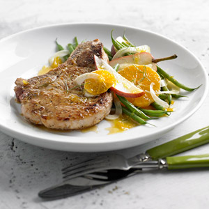 Pork Chops with Fennel Salad