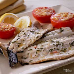 Grilled Rosemary Trout with Lemon Butter