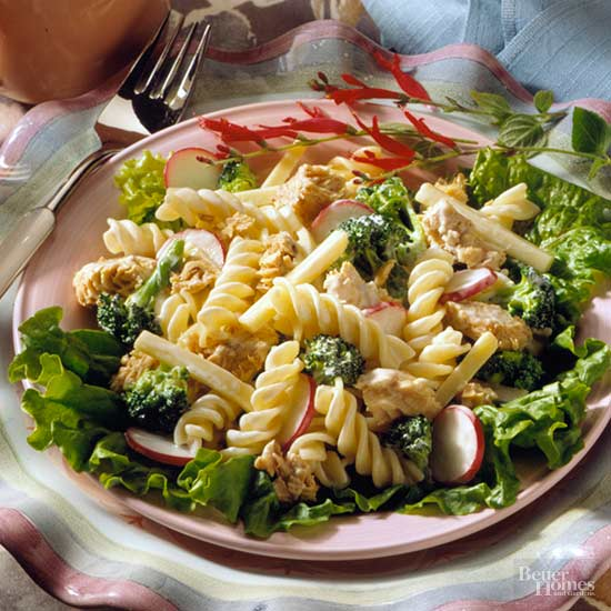 salmon pasta salad gently fold the salmon into the pasta mixture to ...
