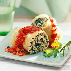 Spinach And Cheese Roll-Ups