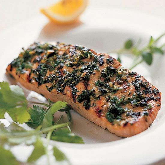 Grilled Salmon With Herb Crust