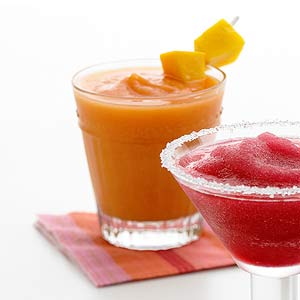 Frozen Strawberry-Mango Margaritas