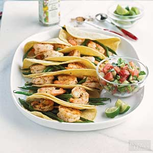 Shrimp Tacos with Fresh Tomato Salsa