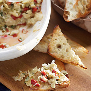 Artichoke and Pepper Toasts