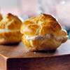 Mini Puffs with Goat Cheese and Herbs