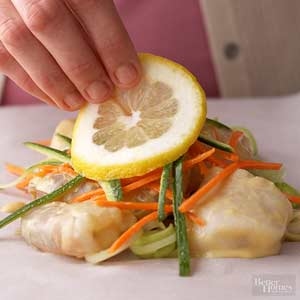 Shrimp and Scallops en Papillote
