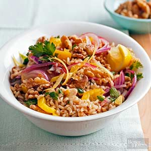 Walnut-Lemon Rice Pilaf