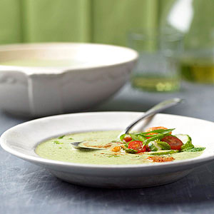Chilled Cucumber-Chickpea Soup