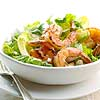 Shrimp on Greens with Garlic Vinaigrette