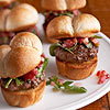 Hamburger Sliders with Cranberry Chutney