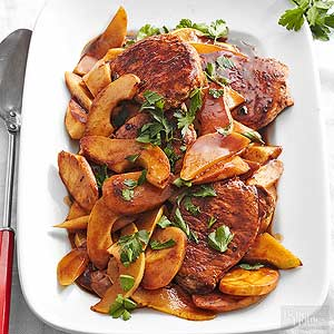 Pork Loin with Parsnips and Pears