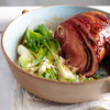 Baked Ham with Mustard-Plum Glaze