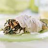 Spinach-Stuffed Sole with Lemon-Chive Sauce
