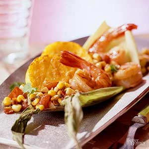 Open-Face Shrimp Tamales