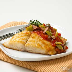 Fish with Salsa and Olives