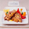 Pecan-Crusted Fish with Peppers and Squash