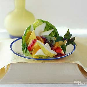 Fruit Salad with Cranberry Dressing