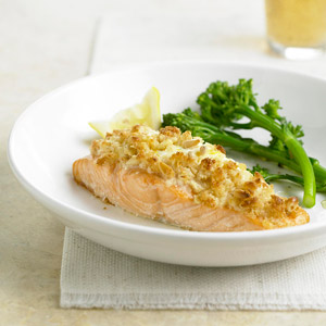 Herbed Cheese-Stuffed Salmon