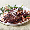 Peppered Steaks with Asiago Cheese