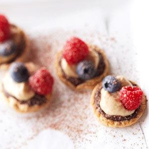 Berry and Caramel Cream Bites
