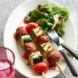 Meatball & Vegetable Kabobs