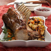Pork Rib Roast with Apple-Cherry Stuffing