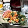Warm Sweet Potato and Spinach Salad