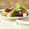 Mixed Greens with Beets and Garlic Croutons