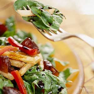 Spinach Salad with Dates and Jicama