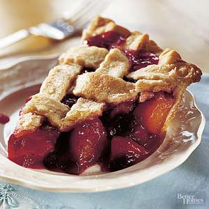 Peachy Cranberry Pie