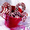 Pink and White Candy Cane Cookies