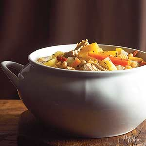 Hearty Turkey Frame Soup