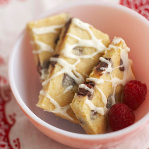 Orange and Raspberry Chip Shortbread
