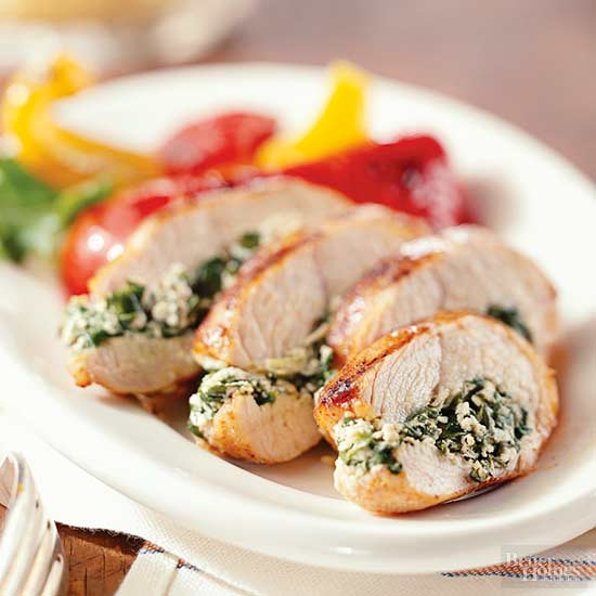 Spinach Stuffed Turkey Tenderloins
